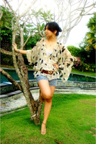 charlie jow blouse - Gaudi shorts - Mollini shoes