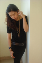 homemade pants - Forever21 - Sportsgirl belt