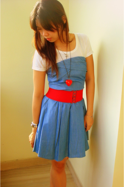 bought in Korea dress - homemade t-shirt - vnc shoes