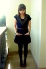Black-bamboo-blonde-vest-black-zara-shoes-brown-vintage-belt