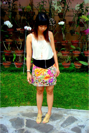 MinkPink skirt - ozoc top - chinese random shop shoes
