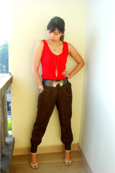 top - random f - vintage belt - Midas shoes