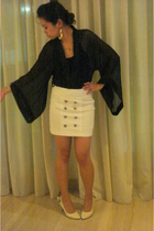 homemade blouse - homemade skirt