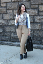 camo striped Gap shirt - silky tan Forever 21 pants