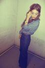 Blue-vintage-jeans-blue-h-m-blouse