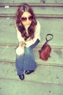 Blue-7forall-mankind-jeans-white-vintage-top-brown-roots-purse