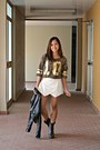 Dark-brown-boots-black-bershka-jacket-white-origami-skort-bazaar-shorts