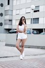 White-high-waisted-levis-shorts-light-pink-diy-crop-top-jennyfer-top