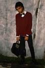 Black-denim-unbranded-jeans-black-knitted-beanie-topman-hat
