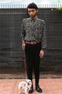 Black-knit-beanie-topman-hat-black-unbraded-shirt