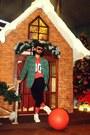 Green-tartan-no-brand-blazer-red-futuristic-cherokee-sunglasses