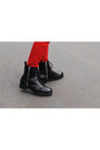 Black-leather-h-m-boots-red-colored-zara-jeans-black-printed-zara-shirt