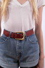 Brick Red Suede Fair Season Belts