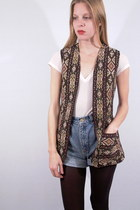 beige tapestry fair season vest