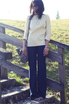 light yellow Violette Tannenbaum blouse - Zara shoes - Zara jeans