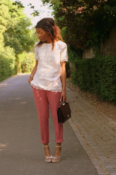 Violette Tannenbaum blouse - Sonia Rykiel shoes - vintage bag - Zara pants