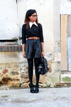 new look heels - H&M bag - Violette Tannenbaum skirt - H&M blouse