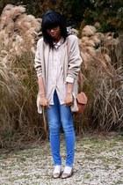 vintage jacket - vintage shoes - H&M leggings - Violette Tannenbaum shirt