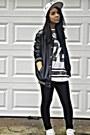 White-text-graphic-hat-black-pleather-aeropostale-jacket