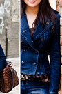 Navy-double-breasted-lee-cooper-jacket-black-knee-high-forever21-boots