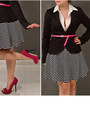 Black-striped-river-island-skirt-black-wrap-h-m-blazer