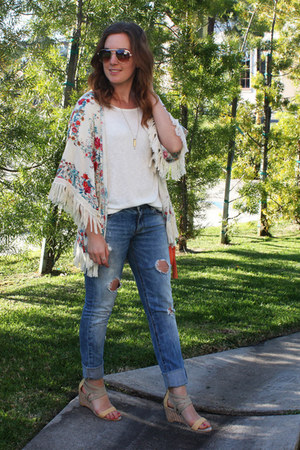Zara jeans - Urban Outfitters bag - kimono Zara top - brandy melville necklace