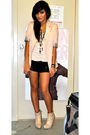 Beige-valleygirl-blazer-black-bardot-shoes-beige-k-mart-top-beige-vagabond