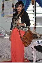 orange free maxi dress dress