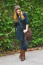 Navy-old-navy-dress-burnt-orange-boots-navy-tights