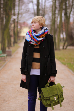 black Atmosphere coat - olive green Mizensa bag