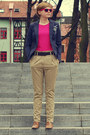 Navy-new-look-blazer-hot-pink-no-name-sunglasses-camel-h-m-pants-hot-pink-