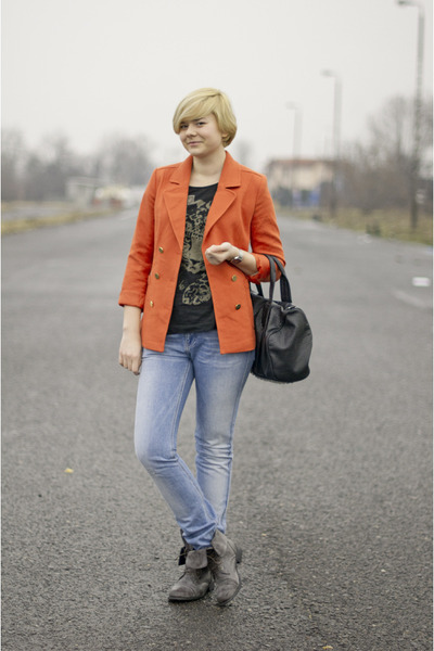 orange H&M blazer