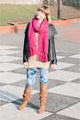 Black-ebay-jacket-sky-blue-lana-del-rey-for-h-m-leggings-hot-pink-h-m-scarf