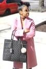 Pink-wool-coat-marks-and-spencer-coat-oversized-bag-river-island-bag