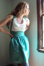 Green-fancy-clothing-dress-white-fancy-clothing-shirt