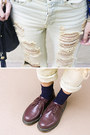 Brick-red-doc-martens-shoes-light-blue-unif-jeans-blue-nasty-gal-sweater