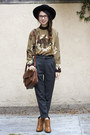 Tawny-sam-edelman-boots-black-nasty-gal-hat-bronze-thrifted-vintage-shirt