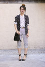 Black-nasty-gal-blazer-black-akira-chicago-bag-white-choies-pants