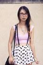 Bubble-gum-nasty-gal-top-black-akira-chicago-bag-white-wasteland-skirt