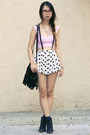 Bubble-gum-nasty-gal-top-black-akira-chicago-bag-white-wasteland-skirt