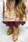Brick-red-american-apparel-skirt-tawny-sam-edelman-boots-ivory-h-m-hat