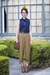 navy American Apparel blouse - tawny sam edelman boots - mustard vintage pants