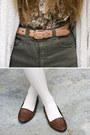 Army-green-american-apparel-shorts-ivory-american-apparel-socks
