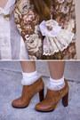 White-american-apparel-socks-tawny-sam-edelman-boots-tawny-goodwill-blazer