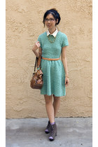 gold house of harlow accessories - aquamarine knit asos dress