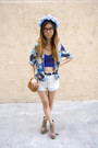 Blue-nasty-gal-top-navy-goodwill-blazer-tawny-urban-outfitters-bag