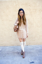 nude American Apparel blouse - beige Urban Outfitters sweater