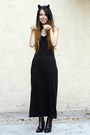 Black-wasteland-boots-black-american-apparel-dress-black-h-m-necklace