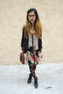 Black-urban-outfitters-dress-black-urban-outfitters-blazer
