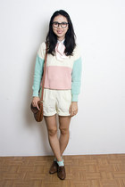 aquamarine American Apparel sweater - white American Apparel shorts